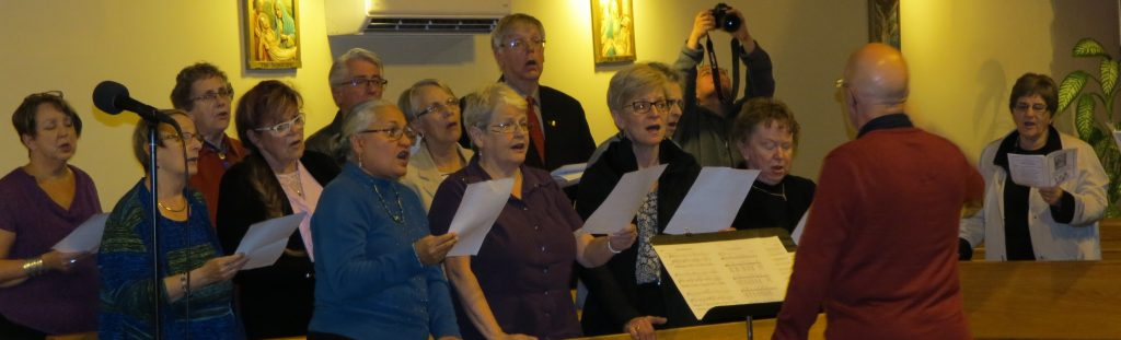 The St. Francis of Assisi choir also shared hymns focusing on prayers for peace.