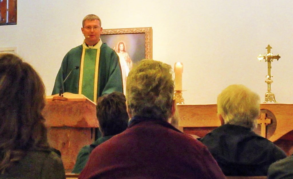 Fr. Andrew provides an encouraging homily.