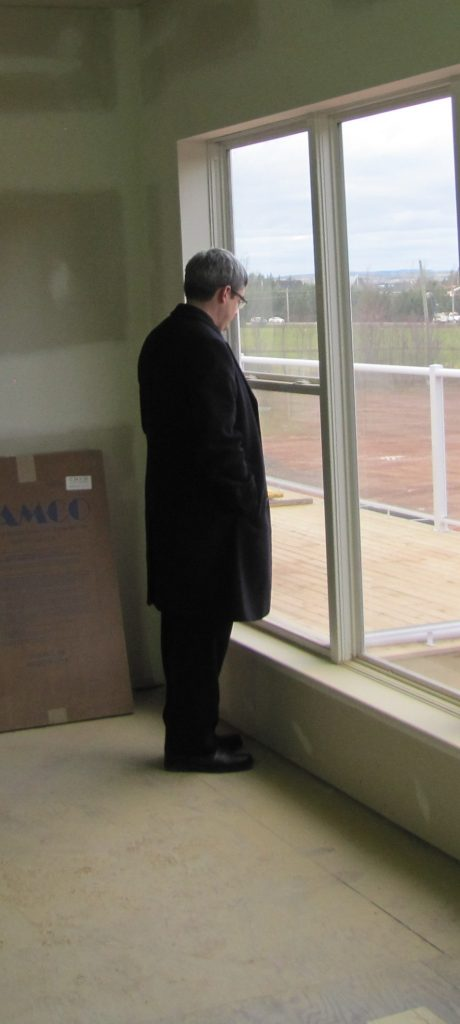Fr. Chris in a moment of quiet reflection