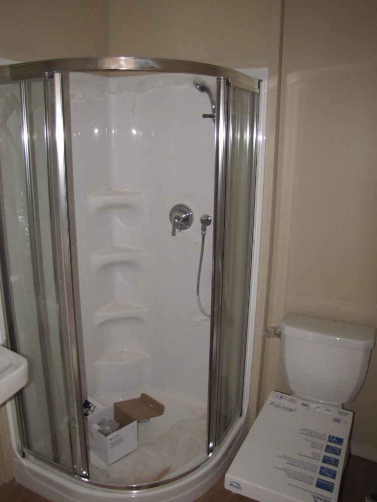 Each guestroom has a shower etc.